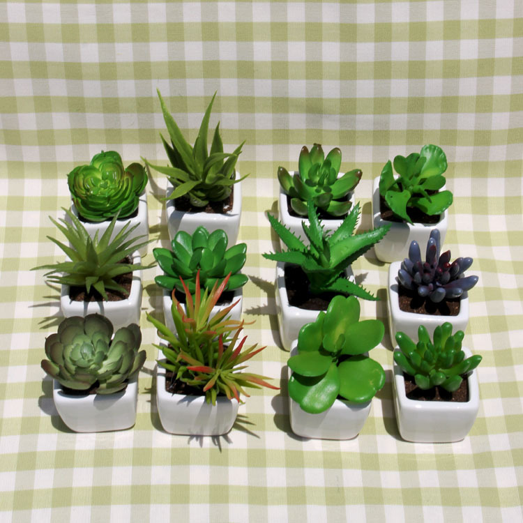 Lovely Small Room Plants Part - 6: Simulation Succulents Small Potted Plants Bonsai Mini Creative Emulation  Suite Living Room Decorated Artificial Flowers-in Vegetable Washer Parts  From Home ...