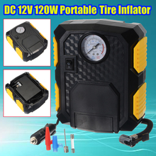 120W 19Cylinder Pointer Tire Inflator 12V Car Portable Air Compressor Pump 150PSI Car Air Compressor for Car Motorcycles Bicycle