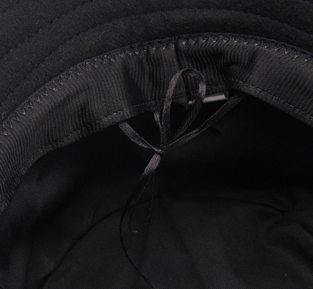 9d795229ffd4 30pcs Plain Wool Felt Bucket Hats for Spring Autumn Men Black Woolen  Fisherman Hat Women Grey Fisher Caps Wholesale Blank Cap-in Bucket Hats  from Apparel ...