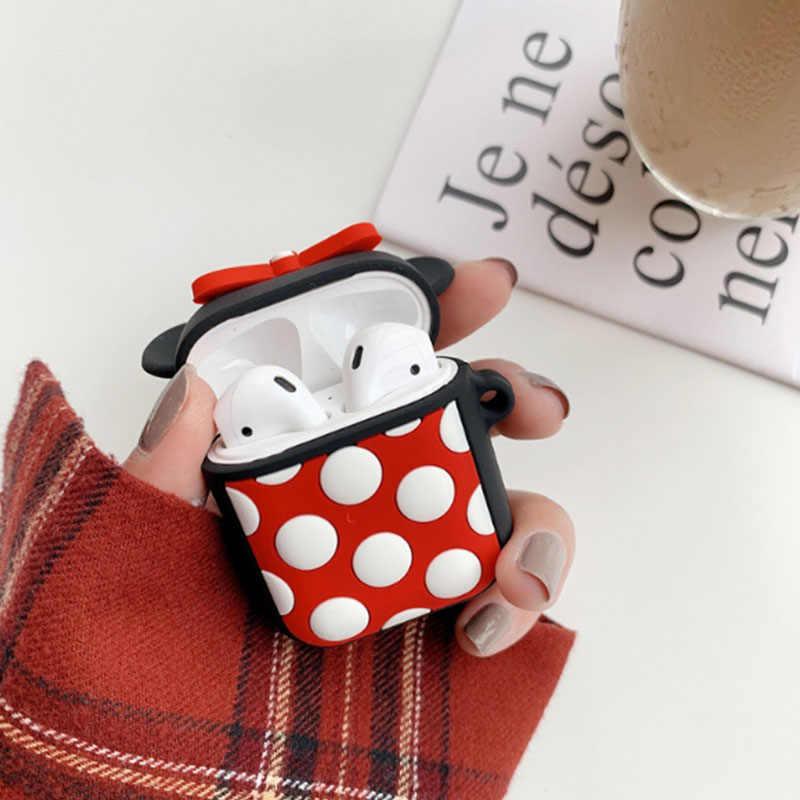 漫画かわいいシリコーン Bluetooth ワイヤレスイヤホンのため AirPods 保護カバーのためのポッド充電ボックス