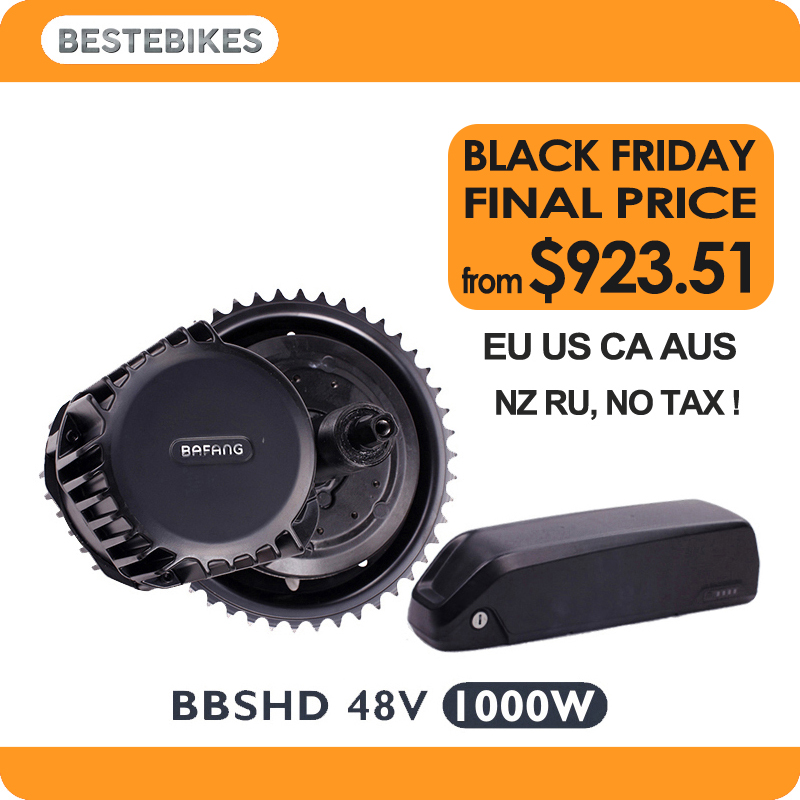 Bafang BBSHD 48V1000w комплект электродвигателей bbs03 батарея вело электрика bicicleta electrica 52V17. 5ah ЕС/США нет налога