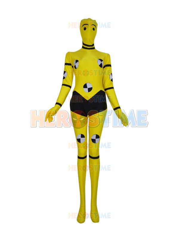 X-men Costume Hot Sale Lycra Spandex Female Fullbody Halloween Yellow X-men Custom Superhero Costume Zentai Suit