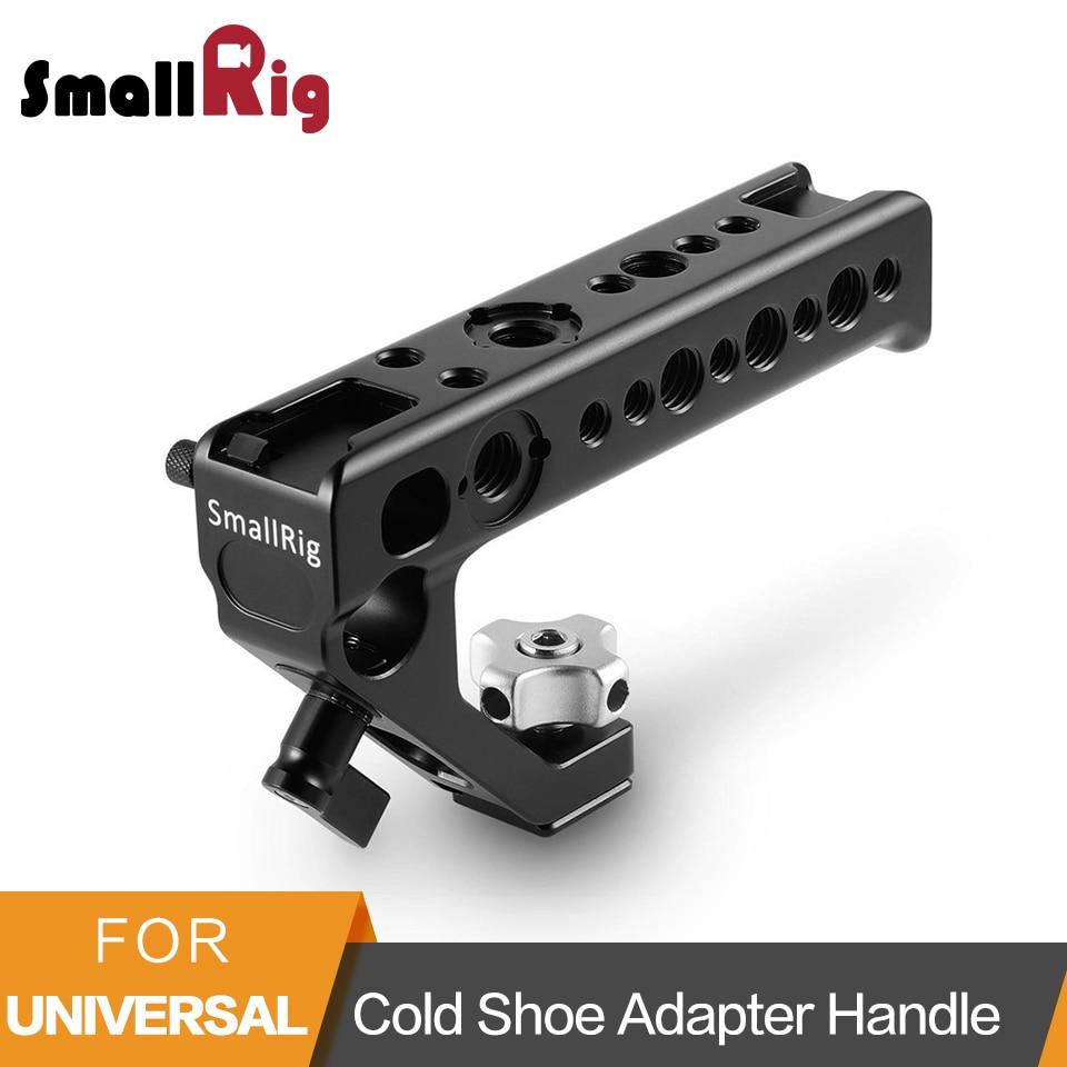 Adaptateur de chaussure froide SmallRig poignée pour monter des appareils photo DSLR et des Cages avec vis à pouce + pince à tige 15mm poignée universelle-2094