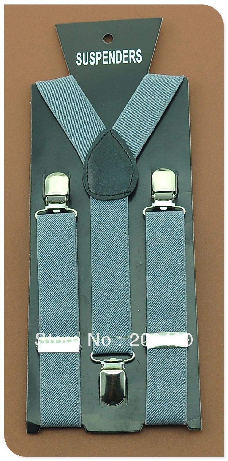 Free Shipping-2.5x65cmGray color Kids Suspenders Children/Boys/Girls Elastic Braces Slim Suspender/gallus-Wholesale & Retail