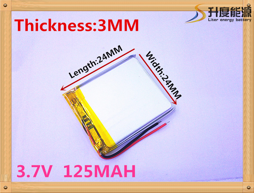 1PCS 3.7V lithium battery 302424 032424 032525 <font><b>302525</b></font> 032323 125MAH battery Bluetooth image