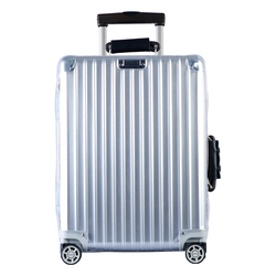 Cubierta de equipaje de pueblo de lluvia cubierta de maleta transparente Protector de equipaje PVC transparente con cremallera para vuelo clásico de Rimowa