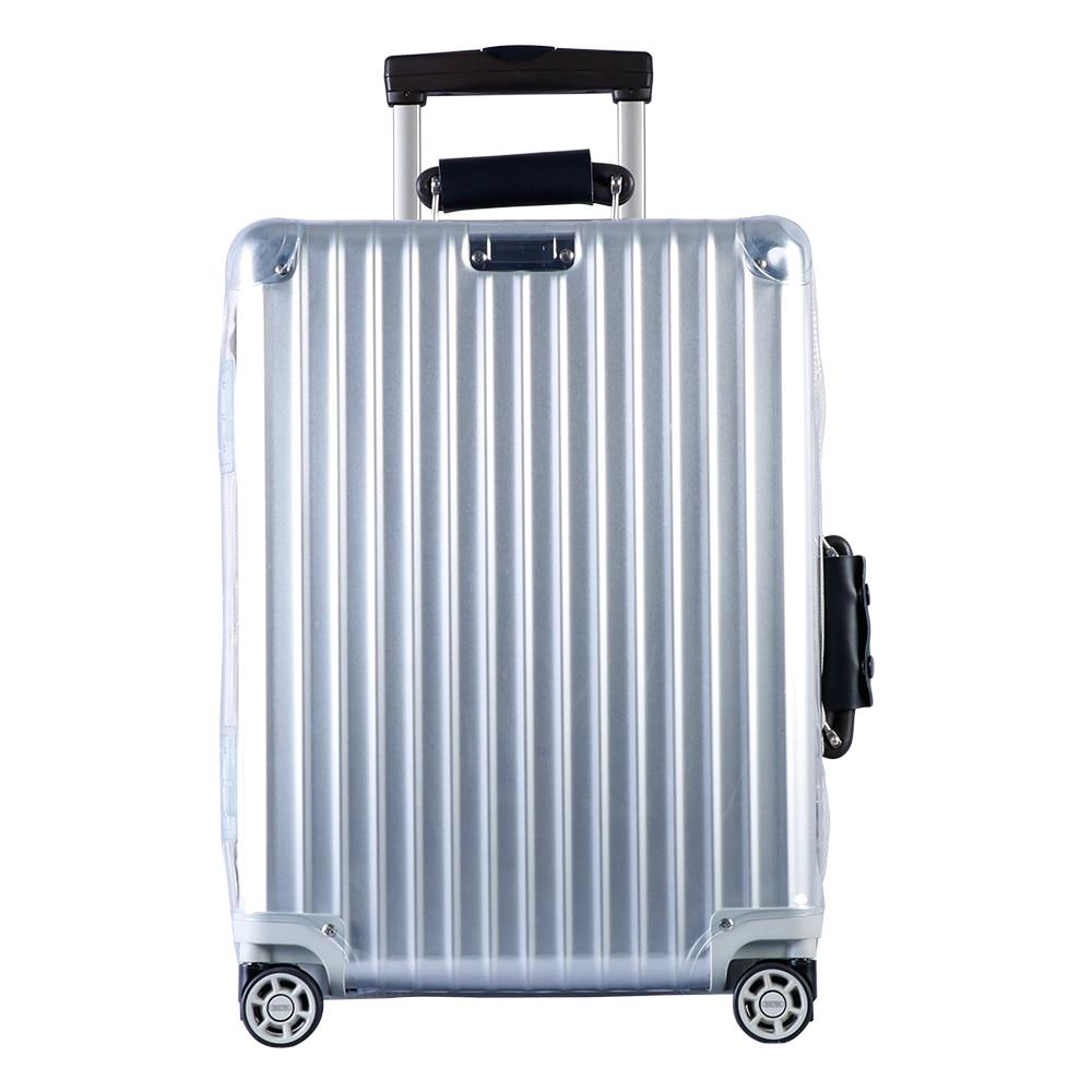 RainVillage tampas bagagem Mala Tampa Transparente Protetor de Bagagem em PVC Transparente com Zíper para Rimowa Clássico Vôo