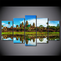 5 Panel Vietnam Cambodia Landscape Canvas HD Printed Poster Frame Painting Modular Living Room Wall Art Posters Girls Room Decor