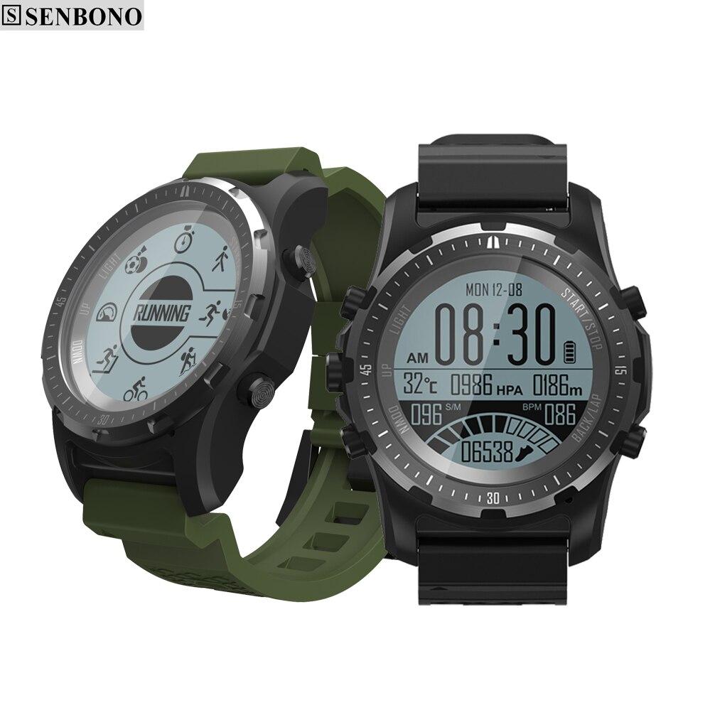 SENBONO S96 GPS Hiking Smart watch Multi-sport Men Watch fitness tracker support Heart Rate air pressure altitude temperature