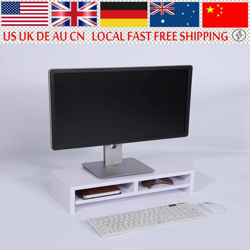 Desktop Organizer Holz Monitor Stand Lagerung Box Fall Holz Computer Monitor Riser Über Tastatur Monitor Riser Stand Produkte HeißEr Verkauf
