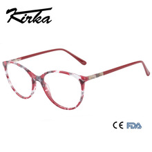 Kirka Women Frames Eyeglass Optical Glasses Frame Myopia Spectacle For Red Eyewear Acetate Eyeglasses