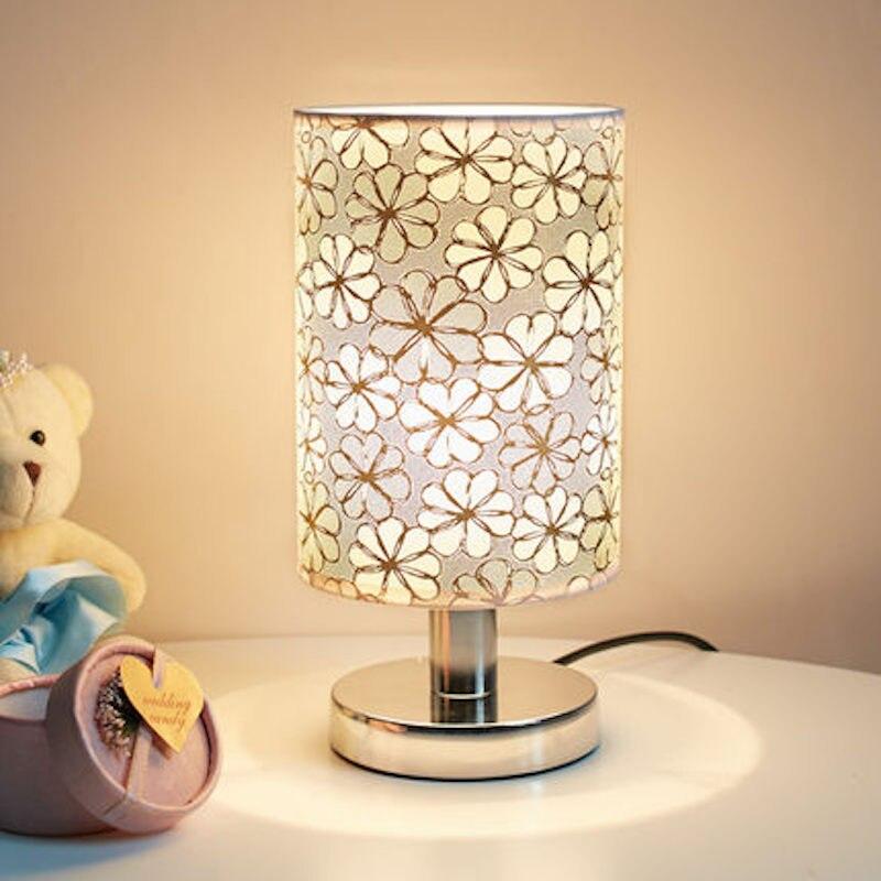 Гостиная ночники Touch на/выключения настольные лампы 28x14 см E27 Европа Сменные Цветочный полосы колос 8 Узор