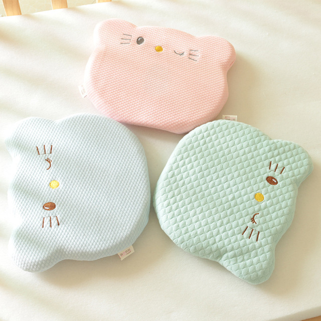 Soft Infant Toddler Sleeping Neck Support Pillows Stroller Pillow Prevent Flat Head Sleeping Support Protection for 0-12M baby