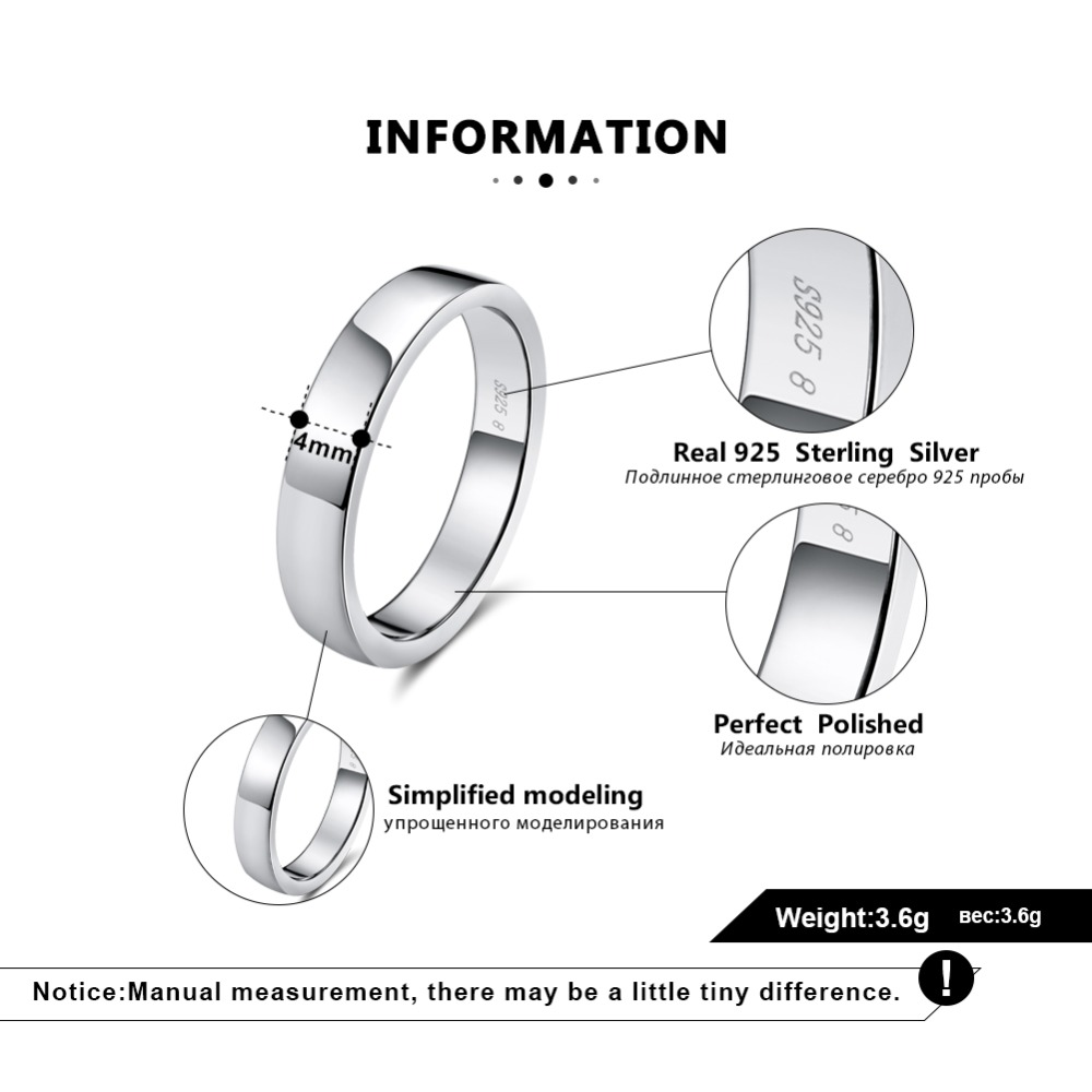 HTB1yOGyiJcnBKNjSZR0q6AFqFXaL ORSA JEWELS Real 925 Sterling Silver Female Rings Classic Round Shape Simple Style Anniversary Wedding Ring Fashion Jewelry SR73