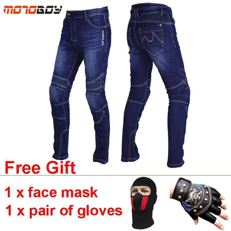 MOTOBOY Breathable Motorcycle Pants Elastic Motosiklet Pantalon Moto Pads Wearable Motocross Motorcycle Jeans Trousers Big Size