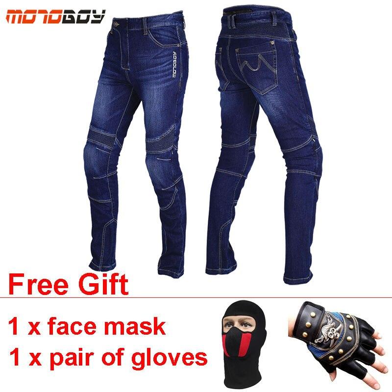 MOTOBOY respirant Moto Pantalon élastique Motosiklet Pantalon Moto coussinets portable Motocross Moto Jeans Pantalon grande taille