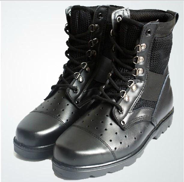 Bottes Été Sécurité Noir Hommes Chaussures Aide Grande Combat De Militaire Spéciales Vérifier Respirant Mesh 08 Forces EqTwErR