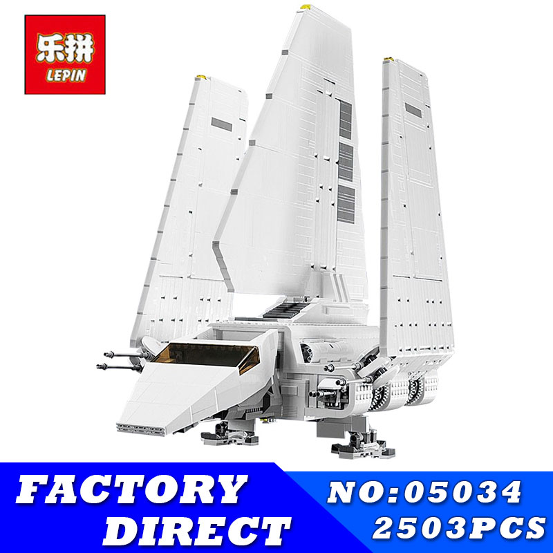 LEPIN 05034 2503Pcs Star MOC Series Wars Imperial Shuttle Building Blocks Bricks Assembled Educational Toys Compatible 10212 new 1685pcs lepin 05036 1685pcs star series tie building fighter educational blocks bricks toys compatible with 75095 wars