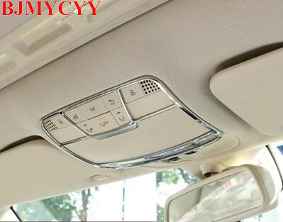 BJMYCYY For Mercedes Benz W205 C-Class C260 E Class W213 2015-2017 Car Accessories ABS Front Reading Light Decorate Frame Trim bjmycyy stainless steel exhause air filter 2 to 4 cover car accessories for mercedes benz c class sedan w205 c200 c180 2015 2016