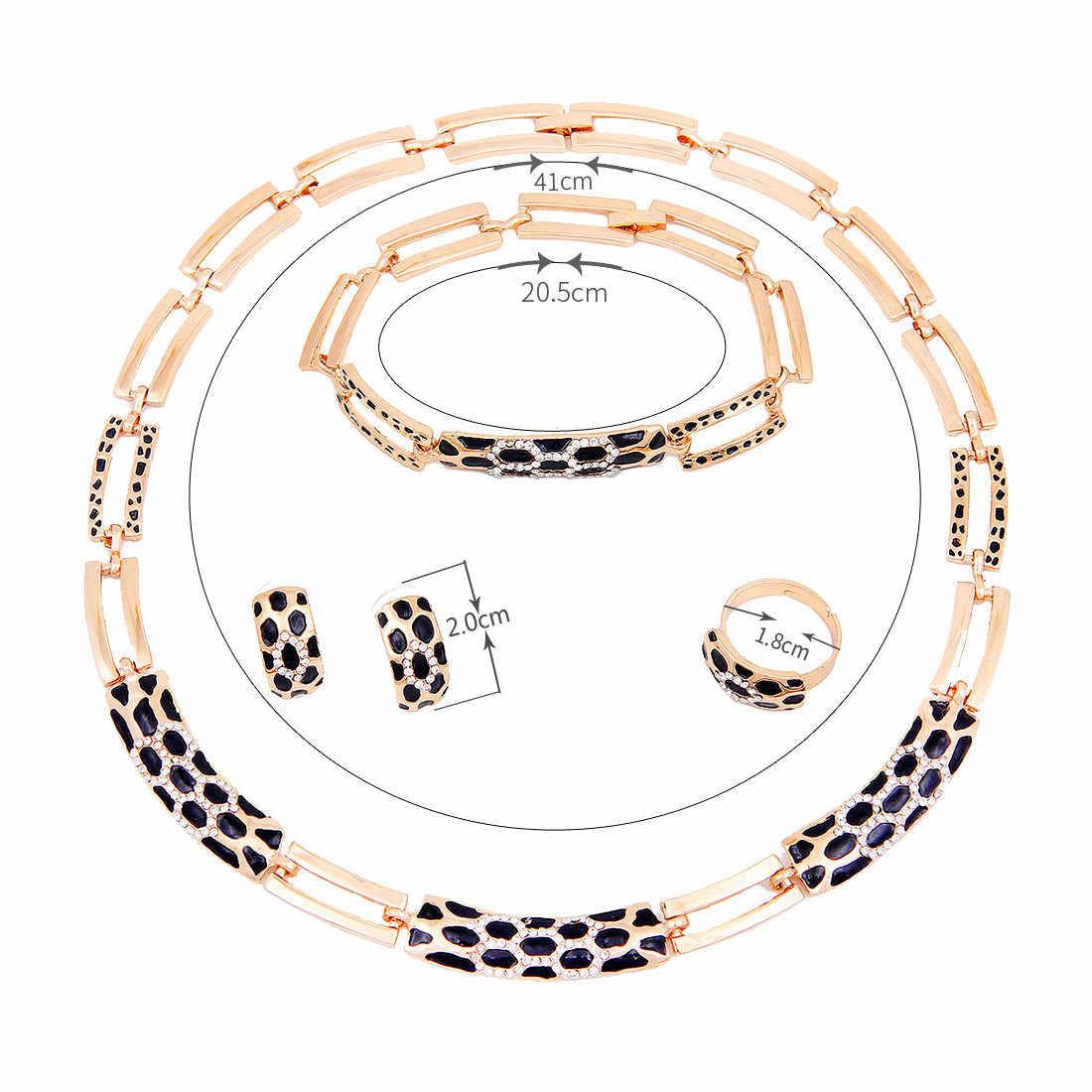 Großhandel Nigerian Frauen Hochzeit Schmuck Sets Colliers Halskette Ohrringe Studs Braut Dubai Gold Afrikanischen Schmuck-Set