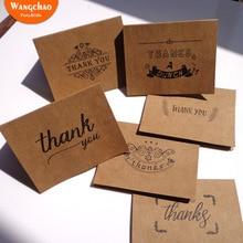 6pcs/bag Retro Kraft Paper Gift Card Wedding Invitation Happy Birthday Greeting Cards Thank You Cards with Envelopes 7 Designs цена