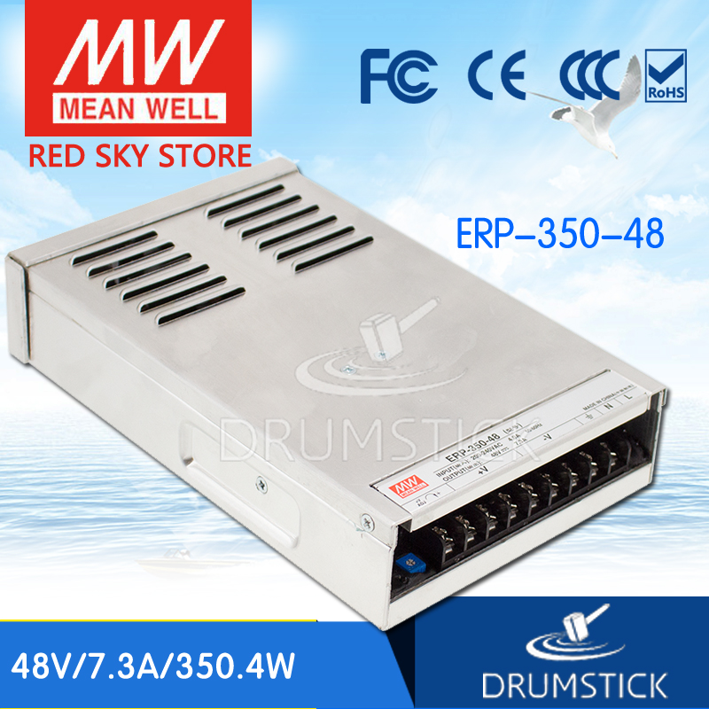 Advantages MEAN WELL ERP-350-48 48V 7.3A meanwell ERP-350 48V 350.4W Single Output Switching Power Supply [Real7] original meanwell nes 350 48 ac to dc single output 350w 7 3a 48v mean well power supply nes 350