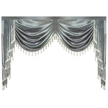 Cenefa de cortina Swag Lambrequin para sala de Estar, comedor, dormitorio, estilo lujoso, ventana, estilo europeo real