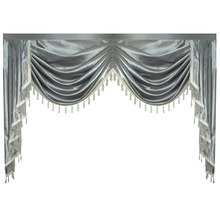 Cortina valance swag lambexigin para sala de jantar, quarto, janela de luxo, estilo royal europeu