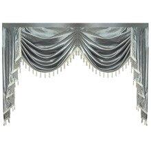 Perde Valance Yağma Lambrequin Oturma Yemek Odası Yatak Odası Lüks Tarzı Pencere Swag Avrupa Kraliyet Tarzı