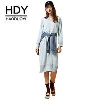 HDY Haoduoyi New Fashion Women Sweaters Casual Streetwear Long Sleeve Knitting Pullover Sweater Jumper Winter Autumn