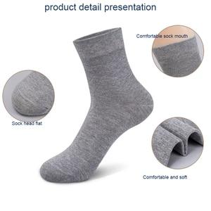 Image 5 - 10 par/partia wysokiej jakości męskie bawełniane skarpetki czarne biznesowe męskie skarpetki oddychająca jesienno zimowa dla mężczyzn Solid Color 2020 New Hot