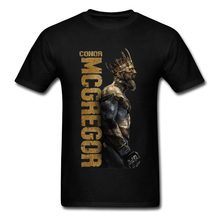 Conor McGregor King Boxer Black Tshirt For Men MMA Wrestling Best Gift O-Neck Cotton Fabric Tops Tees Men Tshirts Great худи print bar king conor