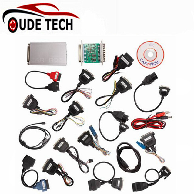 Universal Carprog V9.31 Programmer For Car Radios Odometers Dashboards Immobilizers Car Prog ECU Chip Tuning Tool Full Adapters