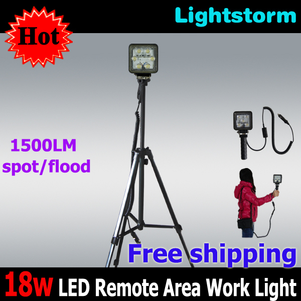 Free shipping! 3 in 1 emergency lig light with adjustable tripod ,1500 lumens brightness and rechargeableht kit, 18w led work