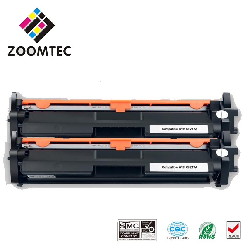 2PC cf217 17A 217 Toner Cartridge Compatible For HP LaserJet M102a M102w MFP M130A M130fn M130fw M103nw cf217a 217a cf283a 83a toner cartridge for hp laesrjet mfp m225 m127fn m125 m127 m201 m202 m226 printer 12 000pages more prints
