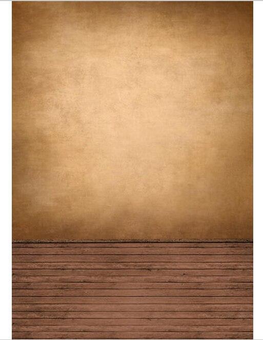 5x7FT Sandy Brown Wall Dark Timber Wood Floor Custom Photo Studio ...
