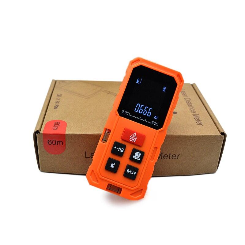 CLUBIONA shock proof orange color Handheld 40M 80M 100M palm Laser Tape measure RangeFinder distance meter