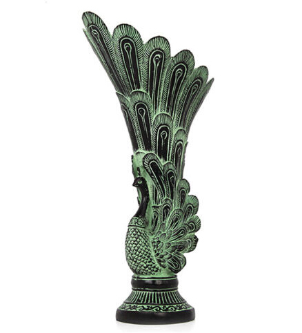 free Shipping Asian antique bronze handicraft peacock modeled vase household decorations Statue Statue