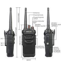 """מכשיר הקשר RETEVIS RT48 / RT648 מכשיר הקשר IP67 Waterproof PMR רדיו המירוץ PMR446 / FRS VOX שני הדרך רדיו תחנת Comunicador מקמ""""ש (2)"""
