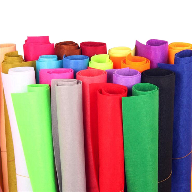 50*40CM large 1Pc Non-woven Felt Fabric Polyester Cloth Felts DIY Kindergarten supplies for Sewing Dolls Crafts accessories 1mm