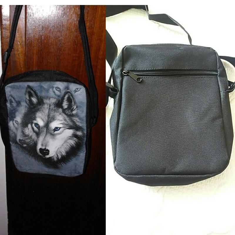 lobo 3d pet rouca cão Item : Men Travel Cross Body Bags