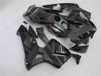 Injection mold bodywork fairing kit for Honda CBR600RR 03 04 all glossy black plastic fairings set CBR 600RR 2003 2004 CF23