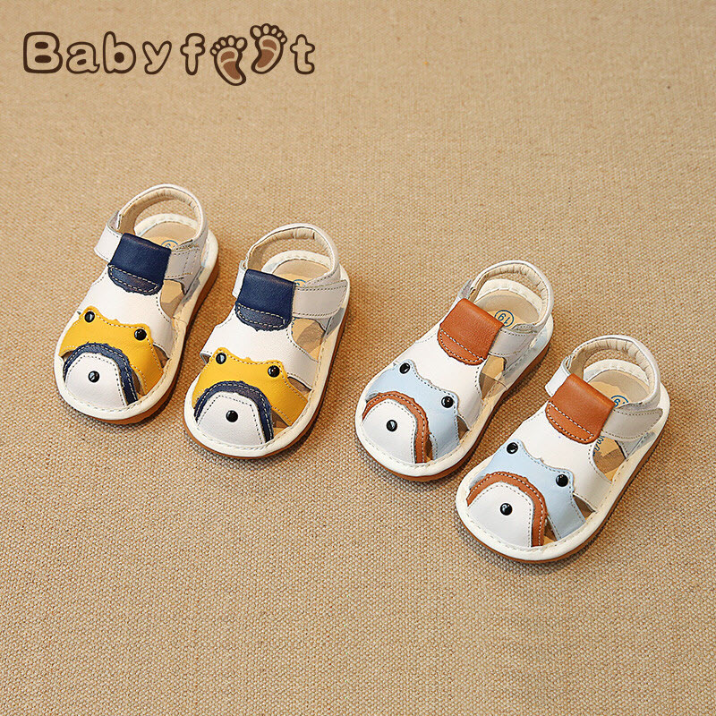 2017 Summer Brand Babyfeet 0-3 years old boys girl sandals Toddler shoes Cow Leather Genuine Leather shoes Children's sandals babyfeet summer cool toddler shoes 0 2 year old newborn baby girl