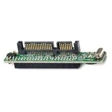 """고품질 미니 2.5 """"IDE HDD 드라이브 44pin 여성 7 + 15pin 남성 SATA 어댑터 변환기 카드 드롭 배송"""