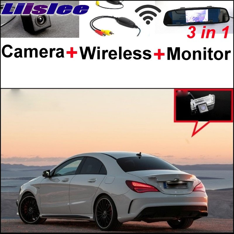 Liislee 3in1 Special WiFi Camera + Wireless Receiver + Mirror Screen DIY Rear View Parking System For Mercedes Benz MB CLA C117