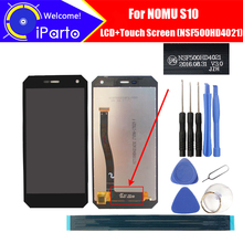 5.0 بوصة NOMU S10 شاشة الكريستال السائل شاشة تعمل باللمس NSF500HD4021 النسخة 100% الأصلي اختبار محول الأرقام زجاج لوحة استبدال ل S10