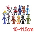 12pcs/set PVC Five Nights At Freddy's Action Figures Toys Foxy Freddy Fazbear Bear Doll gift