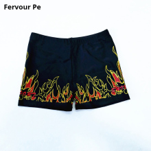 hot deal buy boy board shorts trunks new arrival beach shorts fit middle children children flame printing bathing shorts a18155