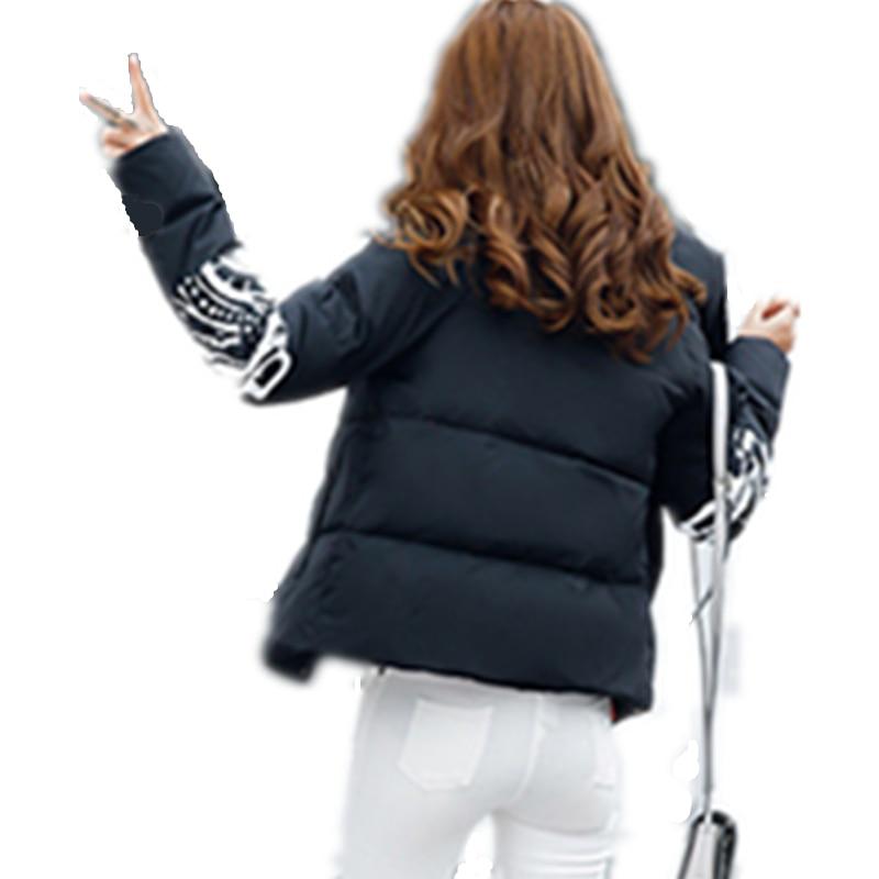 Couche Vers Extérieure Le Survêtement Chaud Femme Black Zippée Resistane Coton Nouveau D'hiver white Manteau Lcy63 Bas Mode Froid Épaississement Veste xYwSPq