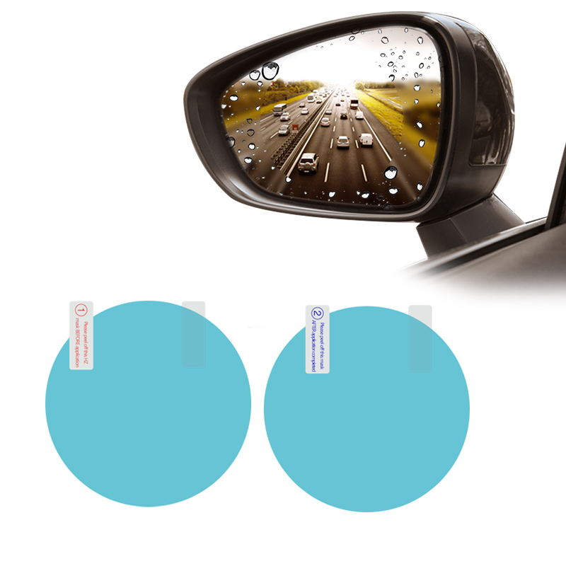 2PCS Car Rearview Mirror Protective Film Anti Fog Window Clear Rainproof Rear View Mirror Protective Soft Film Auto Accessories 7